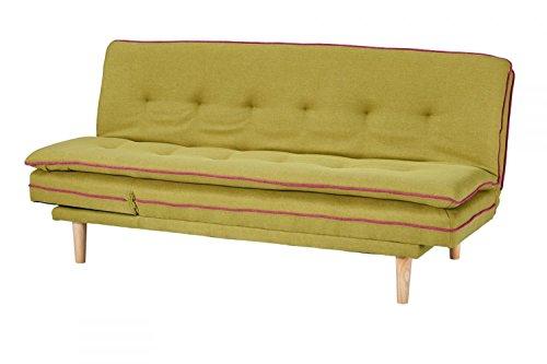 CAGUSTO Schlafsofa Borris grün Klappsofa 2 Sitzer Funktionssofa Couch im skandinavisch modernem Design