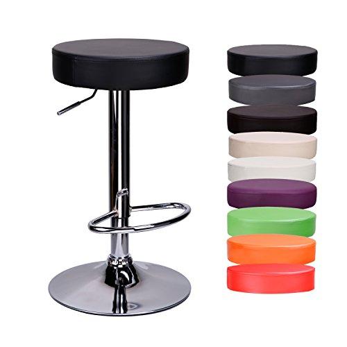 CCLIFE Drehbar Rund Barhocker Höhenverstellbar - Barhocker Küche Barhocker Kunstleder Sitzhöhe 63 - 83 cm, Farbwahl