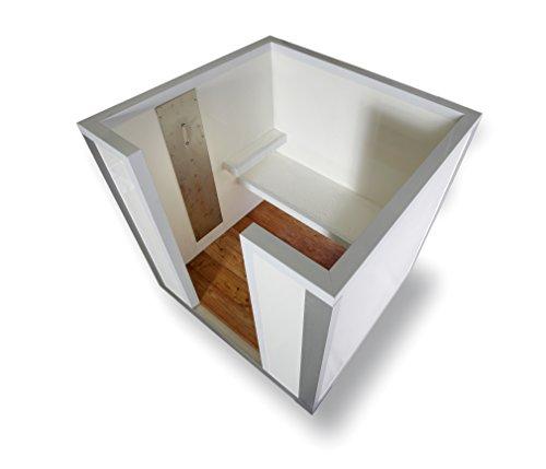 COOLBOX Nebelkabine für hygienische Saunaerfrischung im Zebra-Look (moderne Tauchbecken-Alternative)