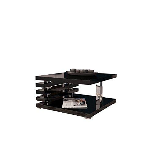 Couchtisch Kyoto, Kaffeetisch, Sofatisch 60x60 cm, Wohnzimmertisch, Couchtisch, Modern Stilvoll, Hochglanz, Matt