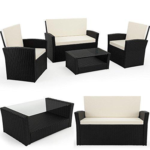 PolyRattan Sitzgruppe Gartenmöbel Lounge SitzgarniturBalkon Sets inklusive Kissen MODELLAUSWAHL
