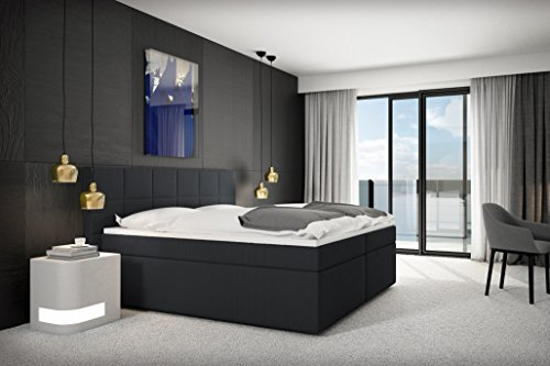 sam design boxspringbett loreno stoff anthrazit bonellfederkern 7 zonen h2 taschenfederkern. Black Bedroom Furniture Sets. Home Design Ideas