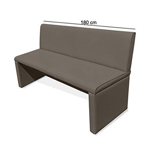 SAM® Einzelbank Sitzbank Family Mitchel 180 cm, Bank mit muddy-farbenem SAMOLUX®-Bezug, gepolsterte Essbank, angenehmer Sitzkomfort