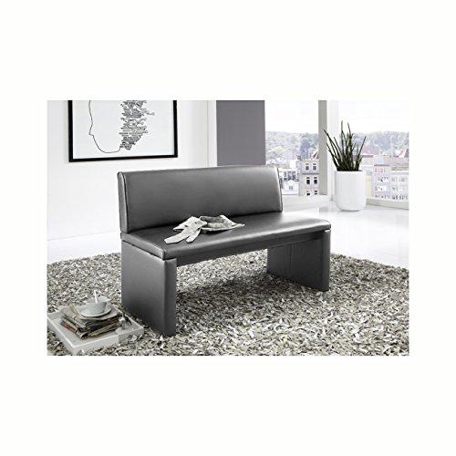 SAM® Esszimmer Sitzbank Family Gibson in grau, 140 cm Breite, Sitzbank mit pflegeleichtem SAMOLUX® Bezug, angenehmer Sitzkomfort, frei im Raum aufstellbare Bank mit Rückenlehne