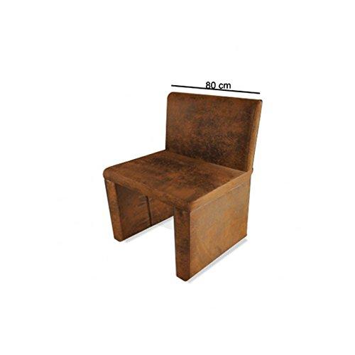 SAM® Esszimmer Sitzbank Family Wilson in brauner Wildlederoptik, 80 cm Breite, Sitzbank mit pflegeleichtem SAMOLUX® Bezug, angenehmer Sitzkomfort, frei im Raum aufstellbare Bank mit Rückenlehne