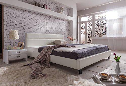 sam polsterbett 180x200 cm pellisima wei kopfteil im. Black Bedroom Furniture Sets. Home Design Ideas