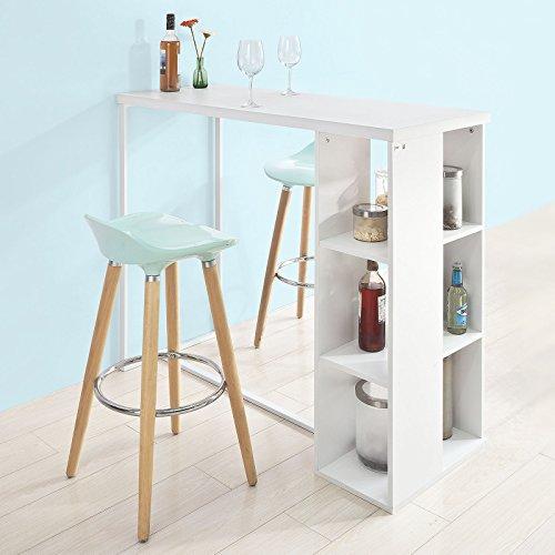 sobuy fwt39 w bartisch beistelltisch stehtisch k chentheke k chenbartisch mit 3 regalf chern. Black Bedroom Furniture Sets. Home Design Ideas