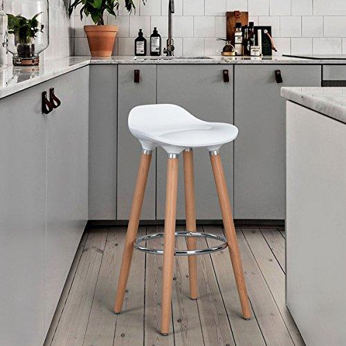 Stühle-Bar Weiß Tresenhocker–Jasmine
