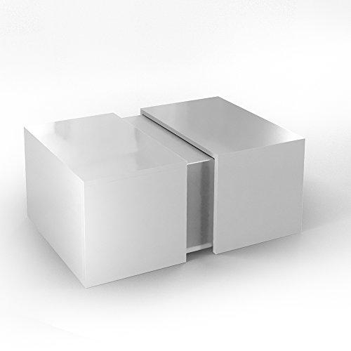 Vicco couchtisch led wei hochglanz loungetisch for Couchtisch acryl