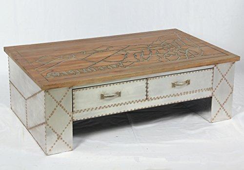 Vintage Industrie Design Couchtisch mit Schubladen retro Tisch Beistelltisch Loft Möbel 505