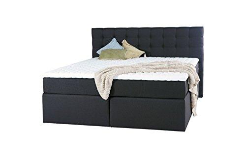 King Boxspringbett 140x200 160x200 180x200 200x200 cm mit Luxus 7-Zonen Taschenfederkernmatratze Visco Topper H2 H3 Hotelbett Doppelbett Polsterbett von Betten Jumbo