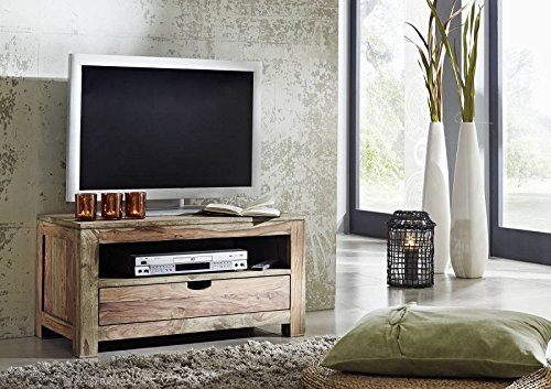 Sheesham Holz massiv TV-Board Massivmöbel Nature Grey #0126