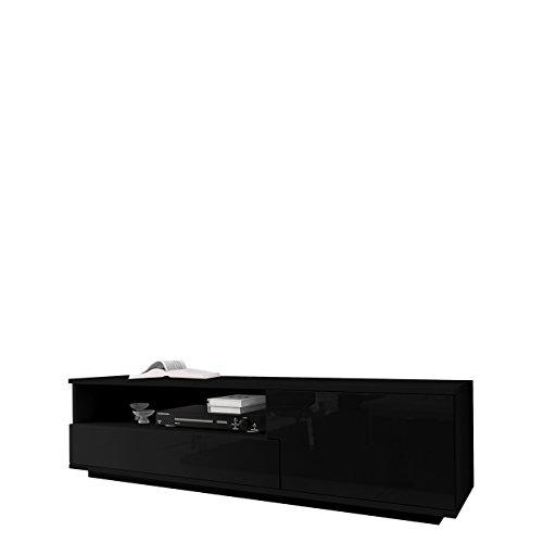 TV Board Lowboard Muza, TV Lowboard mit Grifflose Öffnen, Unterschrank, Fernsehschrank, Sideboard Tisch Mediaboard
