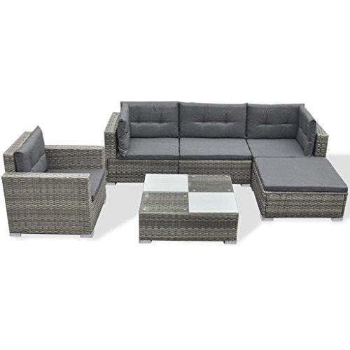 vidaXL 17-tlg. Poly Rattan Gartensofa Set Lounge Gartenmöbel Gartengarnitur Sitzgruppe