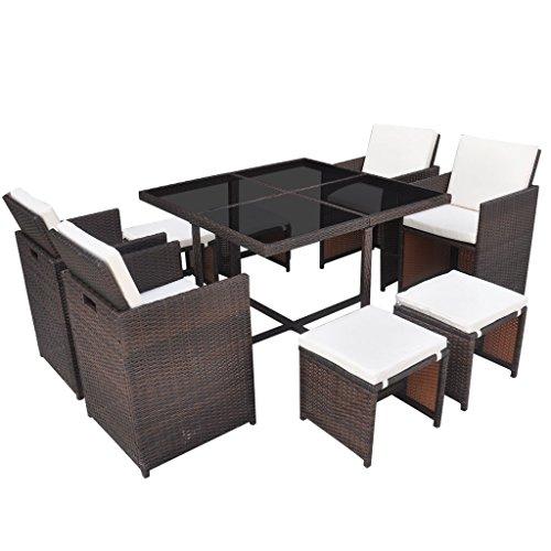 vidaxl 21 tlg poly rattan gartenmbel essgruppe sitzgarnitur mehrere auswahl 0 m bel24. Black Bedroom Furniture Sets. Home Design Ideas