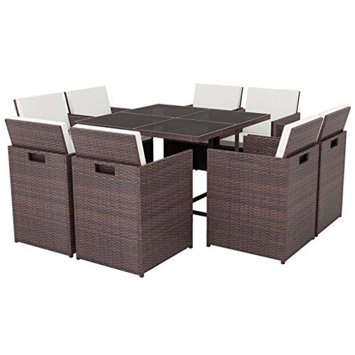 vidaXL 25-tlg. Poly Rattan Gartenmöbel-Set Sitzgruppe Essgruppe mehrere Auswahl