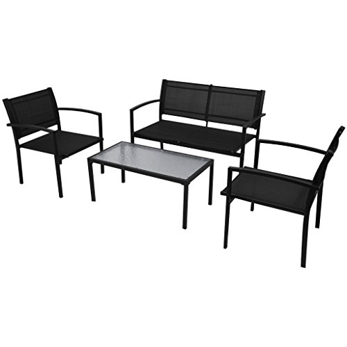 vidaxl 4tlg gartenm bel set sitzgruppe sitzgarnitur. Black Bedroom Furniture Sets. Home Design Ideas