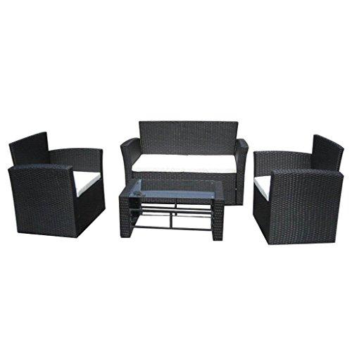 vidaXL 8 tlg Gartenmöbel Poly Rattan Lounge Set Sitzgruppe Rattanmöbel Garnitur