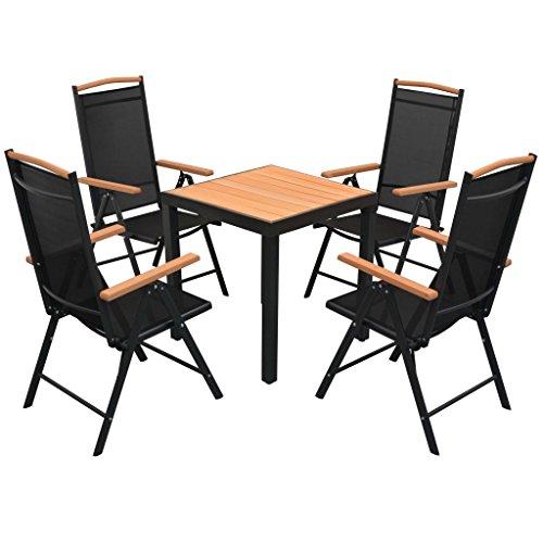 vidaXL Essgruppe WPC 5-tlg. Sitzgruppe Gartenmöbel Lounge Gartenset Garnitur