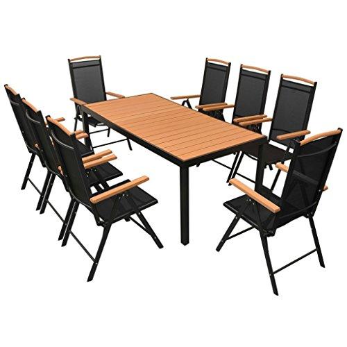 vidaXL Essgruppe WPC 9-tlg. Sitzgruppe Gartenmöbel Lounge Gartenset Garnitur