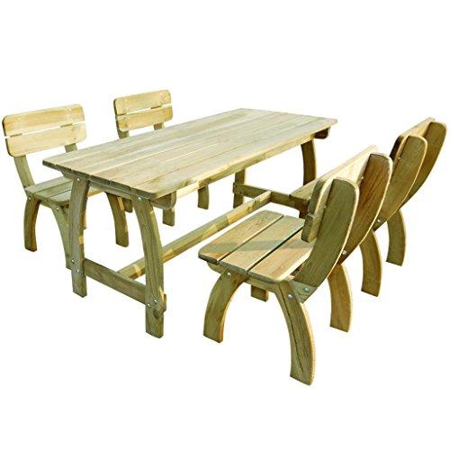 vidaXL Gartenset Gartenmöbel Essgruppe Sitzgruppe Tisch 4 Stühle Kiefernholz
