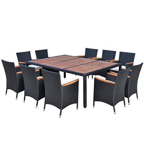 vidaXL Poly Rattan Gartenmöbel Sitzgruppe Gartenset Essgruppe Sitzgarnitur200x150/200cm