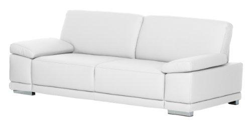 Cavadore Ledersofa Corianne / Kleine Couch in hochwertigem Echtleder und modernem Design / Mit Armteilverstellung