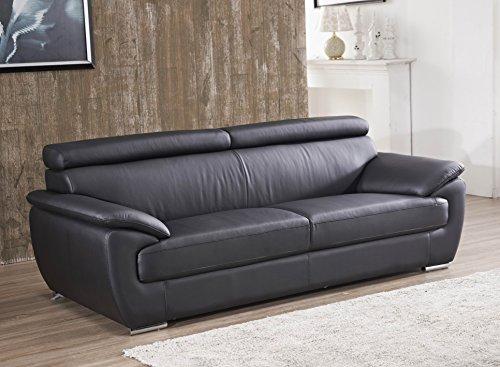 Designer Couches Ledersofa Leder-Sofa 3-Sitzer Garnitur Couch 4571-3-S