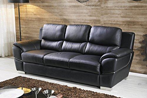 Designer Couches Ledersofa Leder-Sofa-3 Sitzer Garnitur Couch 4572-3-S