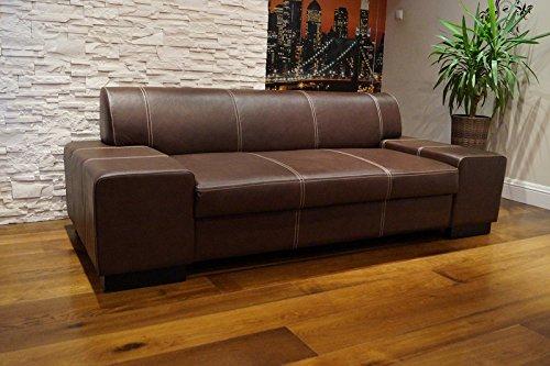 "Echtleder 2,5 Sitzer Sofa ""London"" Breite 220cm Ledersofa Echt Leder Couch große Farbauswahl !!!"