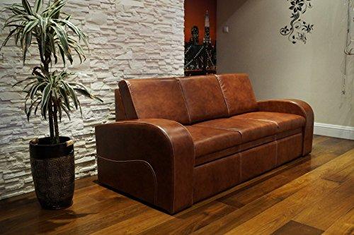 """Echtleder 3 Sitzer Sofa """"OSLO FS"""" Breite 200cm mit Schlaffunktion Ledersofa Echt Leder Couch große Farbauswahl !!!"""