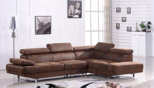 Mikrofasersofa Mikrofasersofa Ecksofa Sofa Couch Eckgruppe 2020-R-VF03