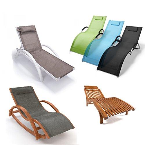 Relax Liegestuhl & Gartenstuhl | 100% wetterfeste Gartenmöbel | Metall oder vorbehandeltes Holz der rustikalen Holzmöbel
