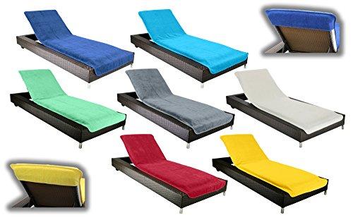 Schonbezug für Gartenliege, Strandliegenauflage, Frottee Schonbezug, 100% Baumwolle - ca.75x200 cm - Brandsseller