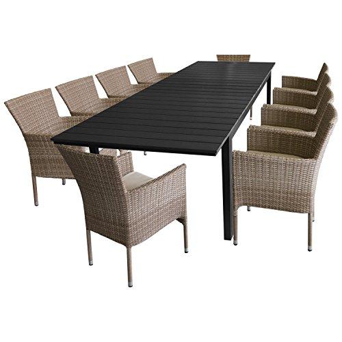 11tlg gartengarnitur sitzgruppe gartenm bel. Black Bedroom Furniture Sets. Home Design Ideas