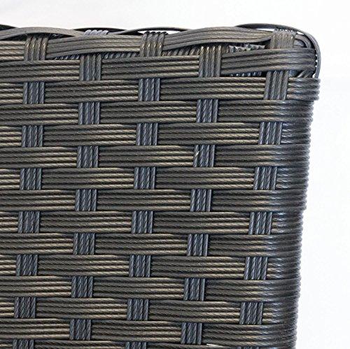 multistore 2002 11tlg sitzgruppe gartentisch ausziehbar polywood tischplatte schwarz 280. Black Bedroom Furniture Sets. Home Design Ideas