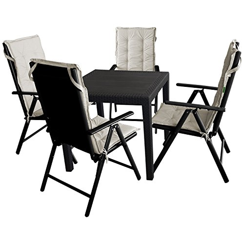 9tlg Gartengarnitur Sitzgruppe Balkonmobel Terrassenmobel Gartenmobel Set Gartentisch Kunststoff