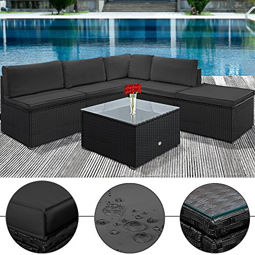 deuba poly rattan lounge stuffy creme anthrazit m bel24. Black Bedroom Furniture Sets. Home Design Ideas
