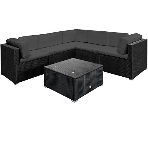 deuba poly rattan lounge xxl creme anthrazit m bel24. Black Bedroom Furniture Sets. Home Design Ideas