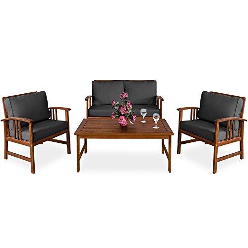 deuba sitzgruppe holz sitzgarnitur gartenm bel gartengarnitur garten lounge holzgarnitur set. Black Bedroom Furniture Sets. Home Design Ideas
