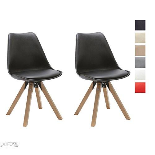 duhome elegant lifestyle stuhl esszimmerst hle k chenst hle 2 er set farbauswahl k chenstuhl. Black Bedroom Furniture Sets. Home Design Ideas