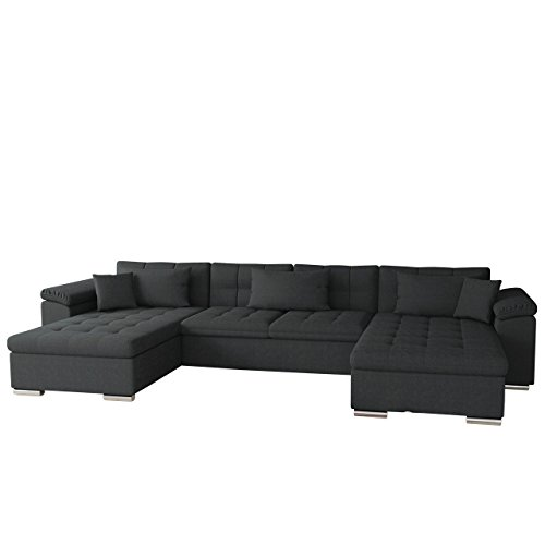 Mirjan24  OUTLET ! Ecksofa Wicenza SALE! Big Sofa Eckcouch Couch! mit Schlaffunktion Bettfunktion! Design Wohnlandschaft! U-Form (Dot 95)