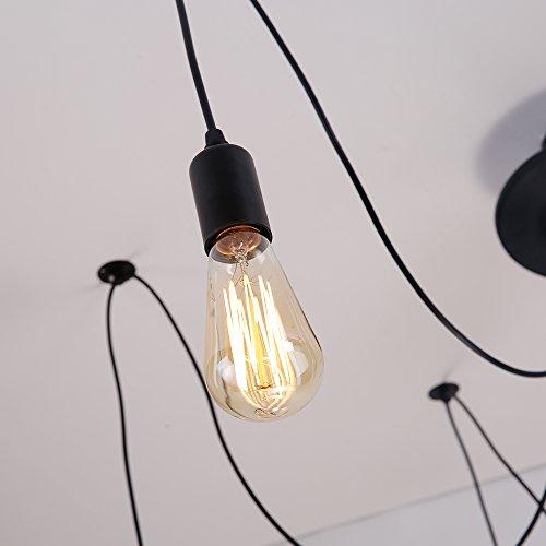 ALAMP Vintage Kronleuchter Pendelleuchten 6 flammig E27 Edison Lampen für Wohnzimmer Schlafzimmer Esszimmer Restaurant Hotel Loft