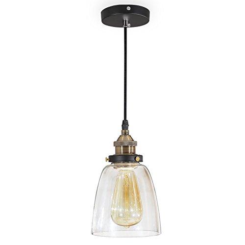 ISWEES Retro Klassische Kronleuchter Pendelleuchten Hängende Lampen Deckenbeleuchtung Hängeleuchte E27 (Ohne Birne) 40 Wat Ø13.5cm (5.3inch)
