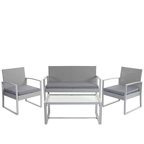 mendler 2 1 1 poly rattan garten garnitur siana sitzgruppe incl kissen extra breite sitze. Black Bedroom Furniture Sets. Home Design Ideas