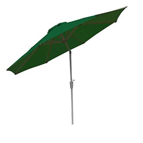 Mendler Alu Sonnenschirm Gartenschirm N19 300cm, neigbar, rostfrei ~ grün