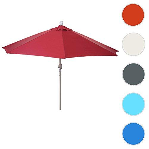 Mendler Alu-Sonnenschirm halbrund Parla, Halbschirm Balkonschirm, UV 50+