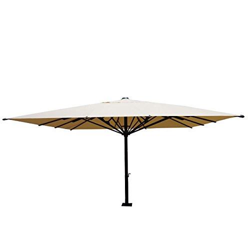 Mendler Gastronomie-Luxus-Sonnenschirm HWC-D20, XXL-Schirm Marktschirm, Alu 7,2m 75kg Creme