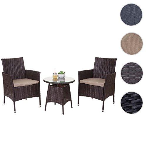mendler poly rattan garnitur hwc a82 balkon set gartenm bel sitzgarnitur m bel24. Black Bedroom Furniture Sets. Home Design Ideas