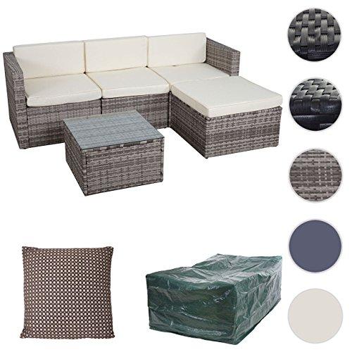mendler poly rattan garnitur hwc d28 gartengarnitur m bel24. Black Bedroom Furniture Sets. Home Design Ideas